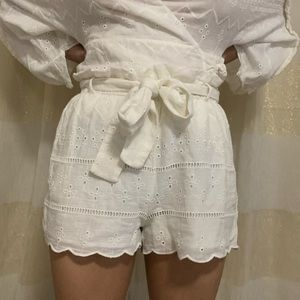 Zara Lace Cotton Shorts